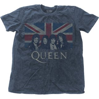 QUEEN Vintage Union Jack with Snow Wash Finishing, Tシャツ
