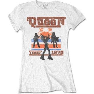 QUEEN 1976 Tour Silhouettes, レディースTシャツ