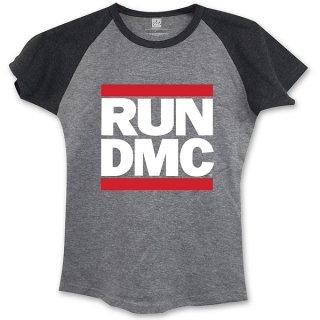 RUN DMC Logo With Skinny Fitting Gblk, レディースTシャツ