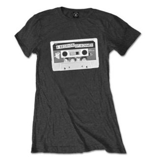 5 SECONDS OF SUMMER Tape with Skinny Fitting, レディースTシャツ