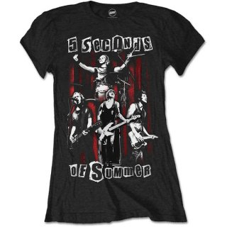 5 SECONDS OF SUMMER Spray Live with Skinny Fitting, レディースTシャツ