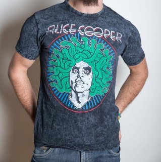 ALICE COOPER Medusa with Puff Print Finishing & Illuminous Printing, Tシャツ