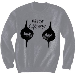 ALICE COOPER Eyes with Puff Print Finishing, スウェットシャツ