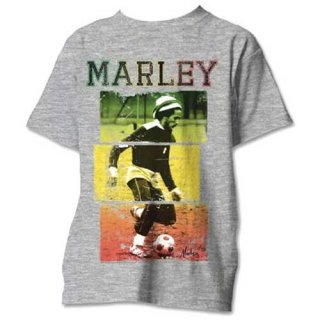 BOB MARLEY Football Text, Tシャツ