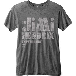JIMI HENDRIX Stencil Logo Vintage with Burn Out Finishing, Tシャツ