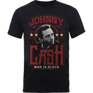 JOHNNY CASH Man In Black, Tシャツ