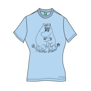 MOOMINS Wanna Dance?/Blu, レディースTシャツ