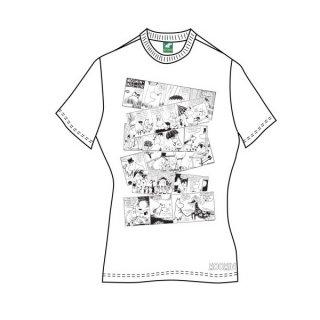 MOOMINS Moomin Falls In Love Comic Strip, レディースTシャツ
