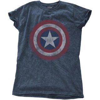 MARVEL COMICS Avengers Assemble Cap with Snow Wash Finishing, レディースTシャツ