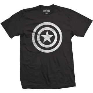MARVEL COMICS Captain America Civil War Basic Shield Distressed, Tシャツ