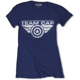 MARVEL COMICS Captain America Civil War Team Cap, レディースTシャツ
