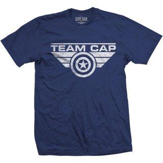 MARVEL COMICS Captain America Team Cap Logo, Tシャツ