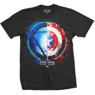 MARVEL COMICS Captain America Civil War Whose Side, Tシャツ