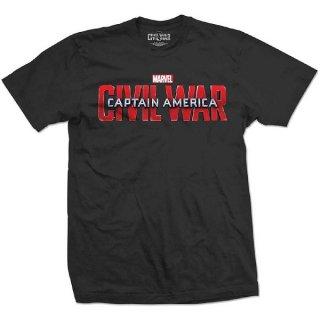 MARVEL COMICS Captain America Civil War Movie Logo, Tシャツ