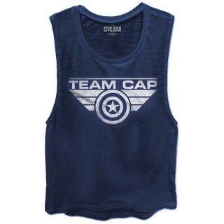 MARVEL COMICS Captain America Civil War Team Cap, タンクトップ(レディース)
