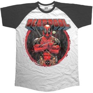 MARVEL COMICS Deadpool Crossed Arms, ラグランTシャツ
