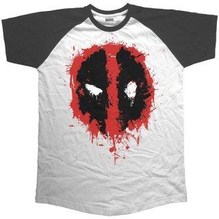 MARVEL COMICS Deadpool Splat Icon, ラグランTシャツ