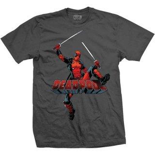 MARVEL COMICS Deadpool Logo Jump, Tシャツ