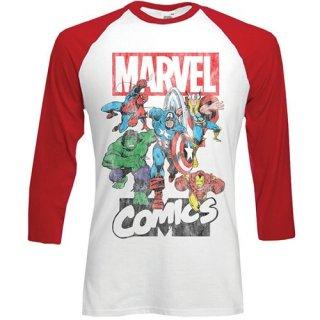 MARVEL COMICS Marvel Montage, ラグラン七分袖シャツ