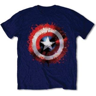 MARVEL COMICS Captain America Splat Shield, Tシャツ