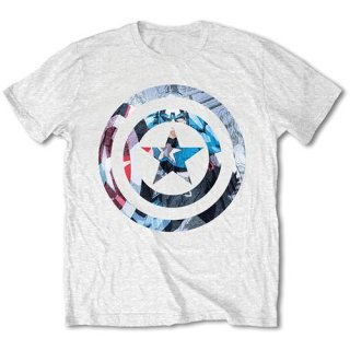 MARVEL COMICS Captain America Knock-out/white, Tシャツ