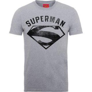 DC COMICS Superman Logo Spray Grey, Tシャツ
