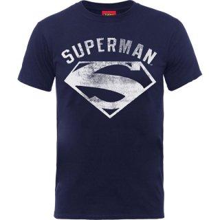 DC COMICS Superman Logo Spray Blk, Tシャツ