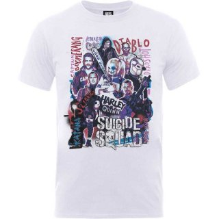 DC COMICS Suicide Squad Harley's Character Collage, Tシャツ