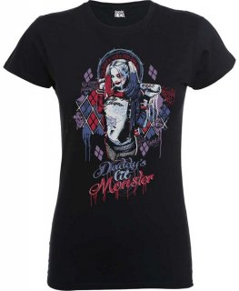 DC COMICS Suicide Squad Daddy's Lil Monster Blk, レディースTシャツ