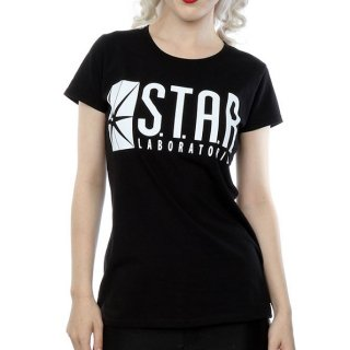 DC COMICS The Flash Star Labs (X-Large), レディースTシャツ