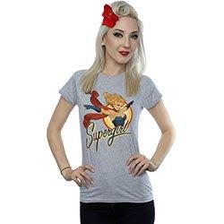 DC COMICS Bombshells Supergirl Badge 2, レディースTシャツ