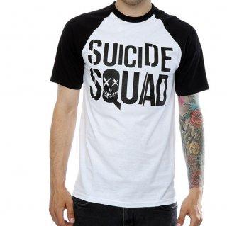 DC COMICS Suicide Squad Movie Logo, ラグランTシャツ