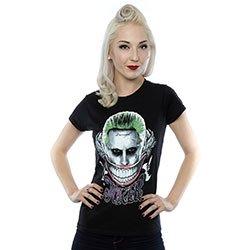 DC COMICS Suicide Squad Joker Coloured Smile, レディースTシャツ