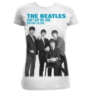 THE BEATLES You can't buy me love/grey, レディースTシャツ