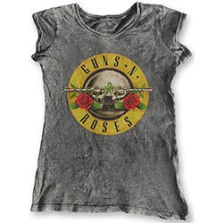 GUNS N' ROSES Classic Logo (Acid Wash Finish), レディースTシャツ