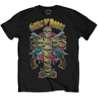 GUNS N' ROSES Skull Cross 80s, Tシャツ