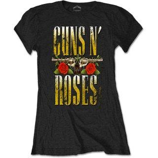 GUNS N' ROSES Big Guns, レディースTシャツ