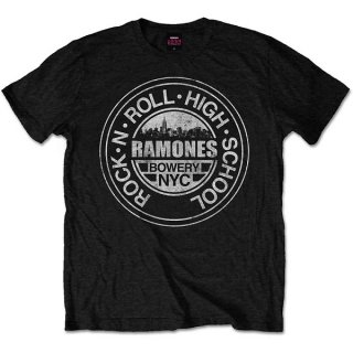 RAMONES Rock 'n Roll High School Bowery Nyc, Tシャツ