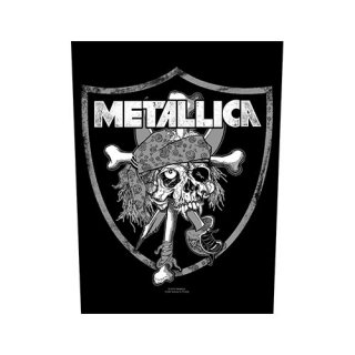 METALLICA Raiders Skull, バックパッチ