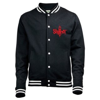 SLIPKNOT Logo & 9 Point Star with Back Printing, バーシティジャケット