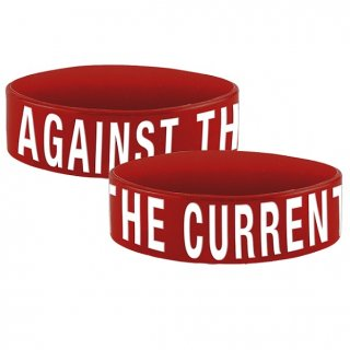 AGAINST THE CURRENT Logo, シリコンリストバンド