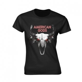 AMERICAN GODS Buffalo Skull, レディースTシャツ