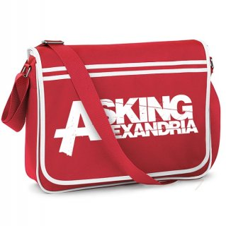 ASKING ALEXANDRIA Logo Red, メッセンジャーバッグ