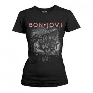 BON JOVI Slippery When Wet Album, レディースTシャツ