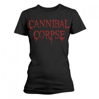 CANNIBAL CORPSE Dripping Logo, レディースTシャツ