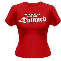 THE DAMNED Skip school, レディースTシャツ