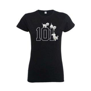 DISNEY 101 Dalmations 101 Doggies, レディースTシャツ