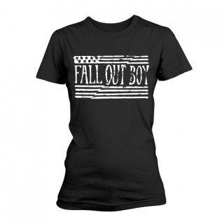 FALL OUT BOY Us Flag, レディースTシャツ