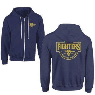 FOO FIGHTERS Insignia Logo Dark Blue, Zip-Upパーカー