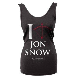 GAME OF THRONES I Love Jon Snow, タンクトップ(レディース)